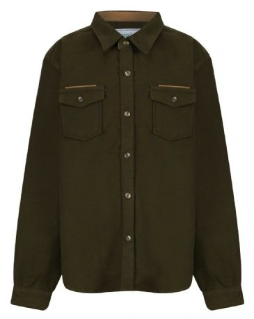 Boys Childrens Olive Lovat Quality Moleskin Shirt Shooting Hunting Fishing New